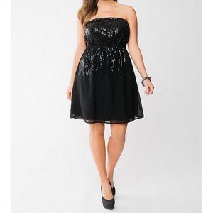 Lane Bryant Strapless sequin dress